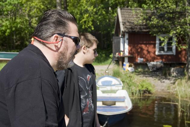 Torbjörn och Fredrik koncentrerar sig...